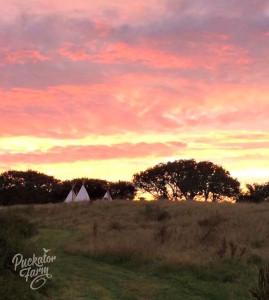 10 - tipis on the hill sunset