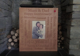 Personalised engraved photo frames